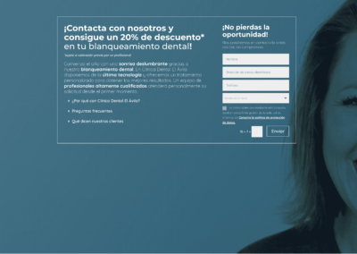 Web y Campaña de marketing para Clínica Dental El Avila