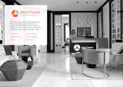 Rebranding + Web para Altair Finance