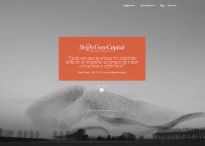 Nueva web para BrightGate Capital SGIIC