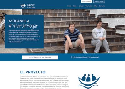 Nueva web y sistema de donaciones para Fundación el Arca de Madrid